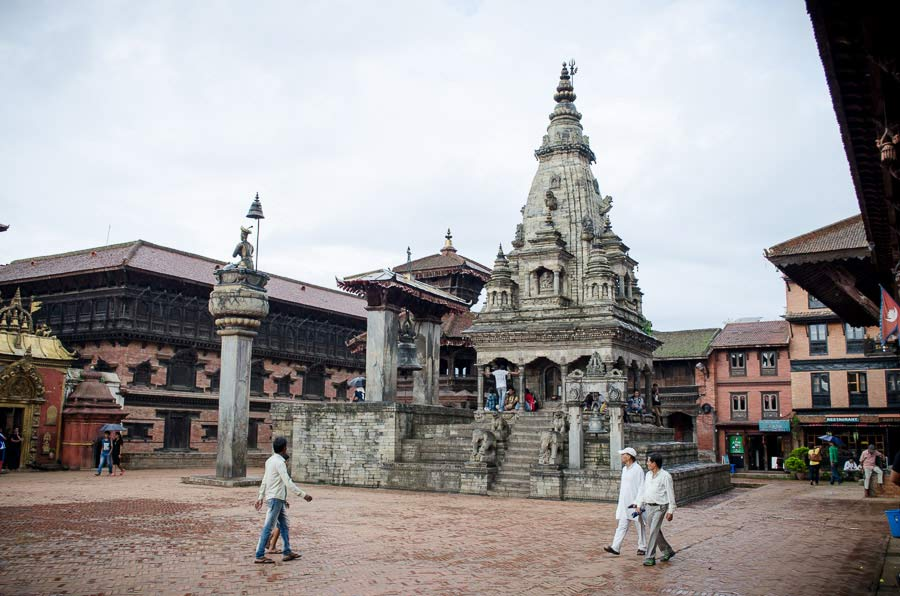 Beautiful temple in durbar square of Bhaktapur, Nepal 2013