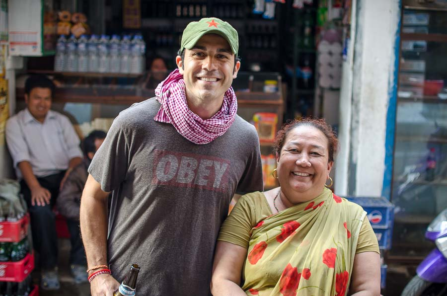 The woman that runs the little shop in Thamel.