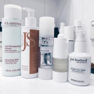 Thursday AM just! skincare clarins cleansing milk joshrosebrook mist NPhellip