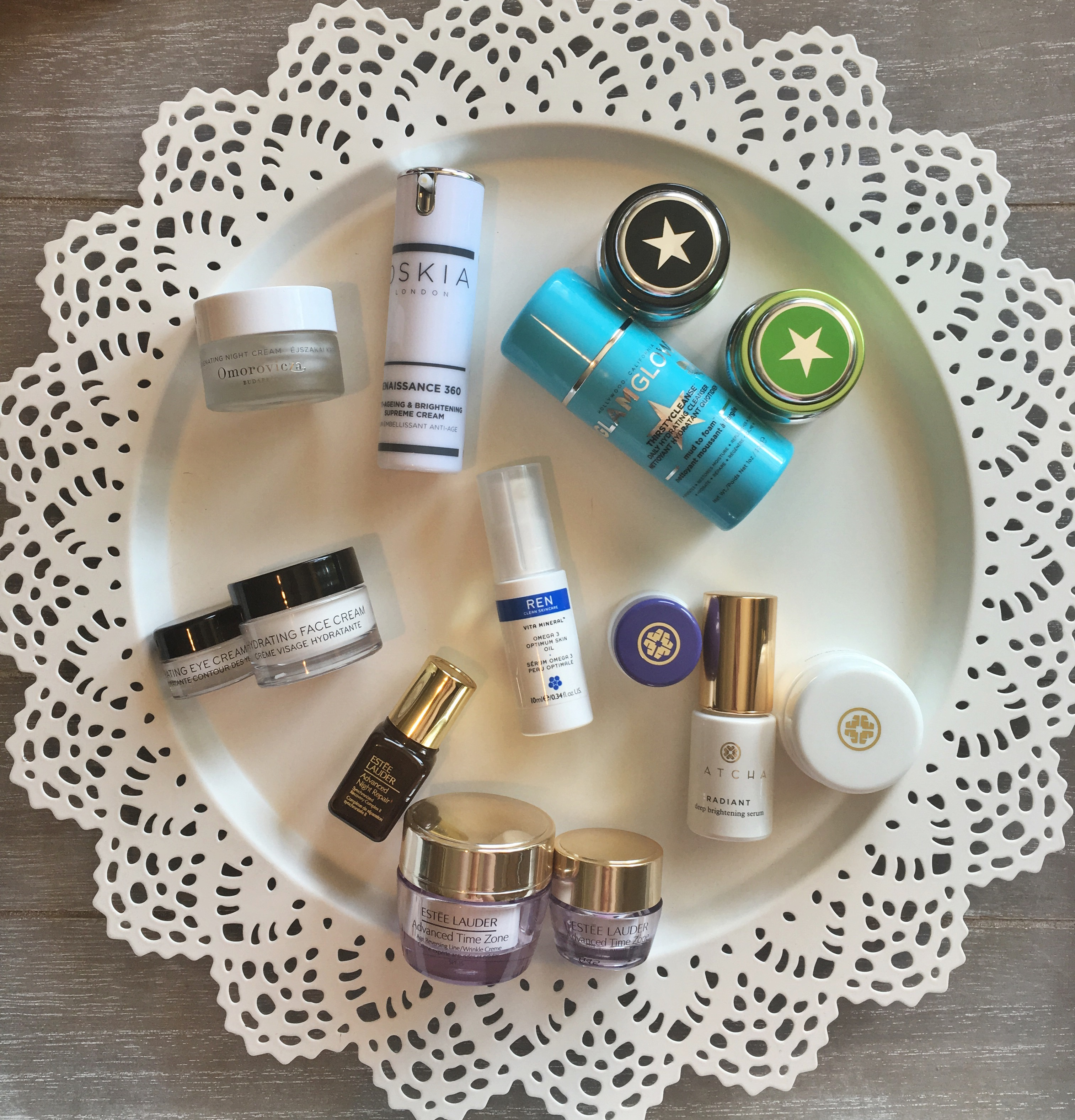 Skincare travel sizes and minis