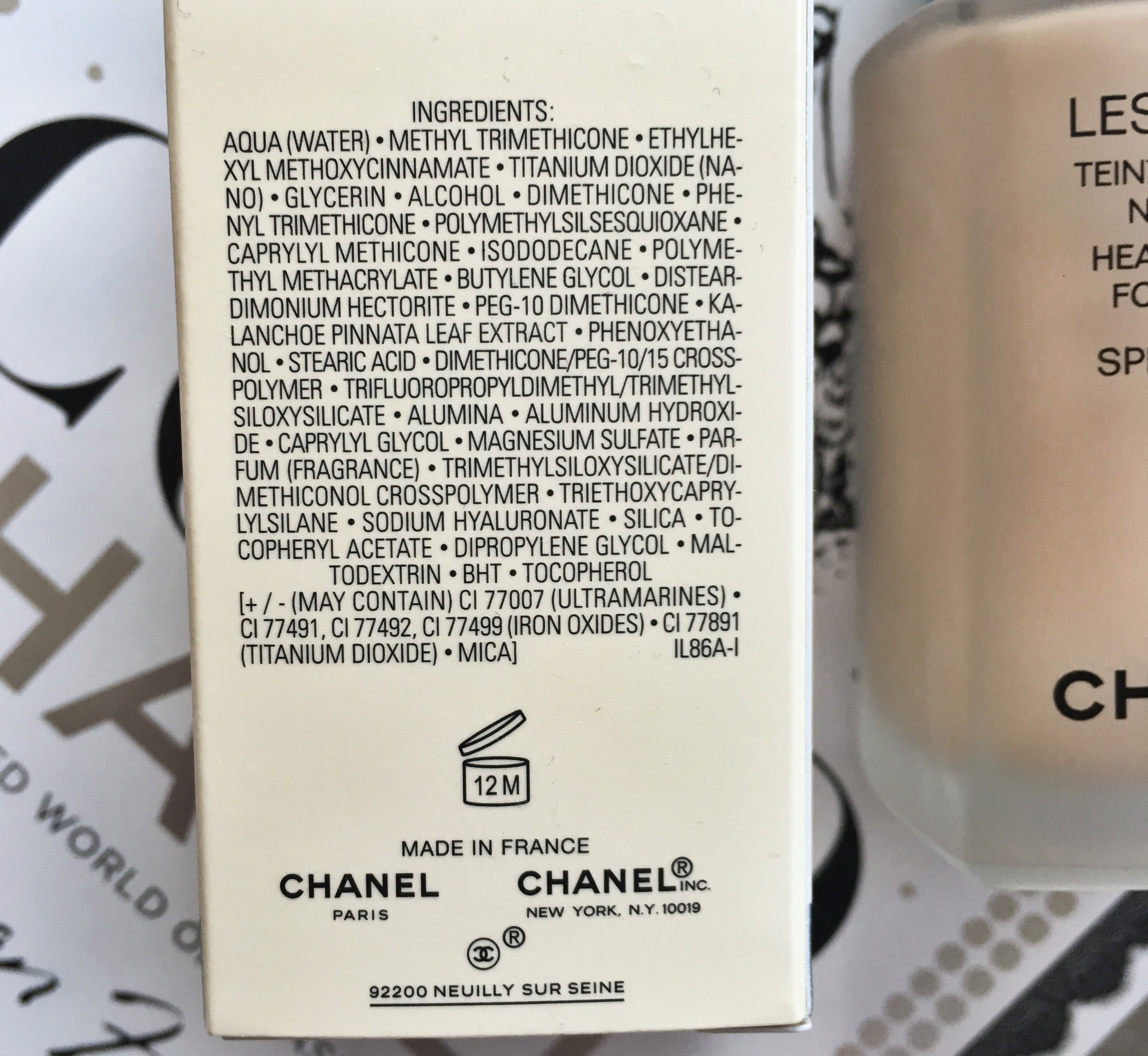 Chanel Les Beiges Healthy Glow Foundation Ingredients
