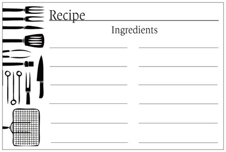 BBQ Recipe Cards \