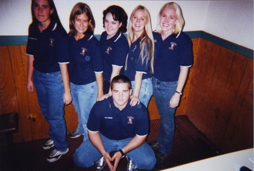 Our ag ambassador officer team. Stacie is the blonde with short hair. Also if you ever see John, buy him a beer and give him a hug. He was on the executive committee with me, and I poked him with a stick unmercifully.