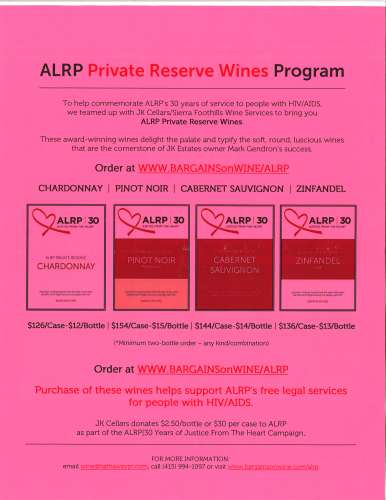 Buy a case of wine and ALRP gets $30 (or $2.50 a bottle) - guess who is going to buy some wine?!