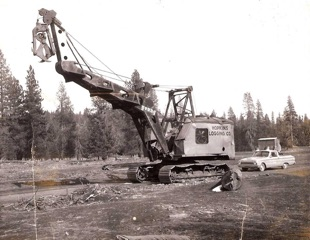 The Northwest Model 6 with a Young heel boom, out riggers and grapples. Swain Mountain c. 1965