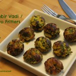 No Fry Kothimbir Vadi / Cilantro Fritters made in Appe Pan