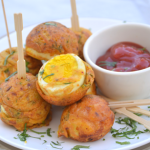 Egg Pakodas / Egg Fritters made in appe pan