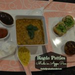 Ragda Patties (peas stuffing) made in Appe pan