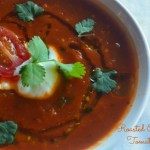 Roasted eggplant & Tomato soup