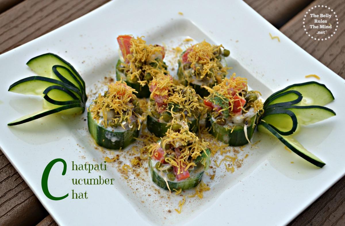 Chatpati cucumber chat