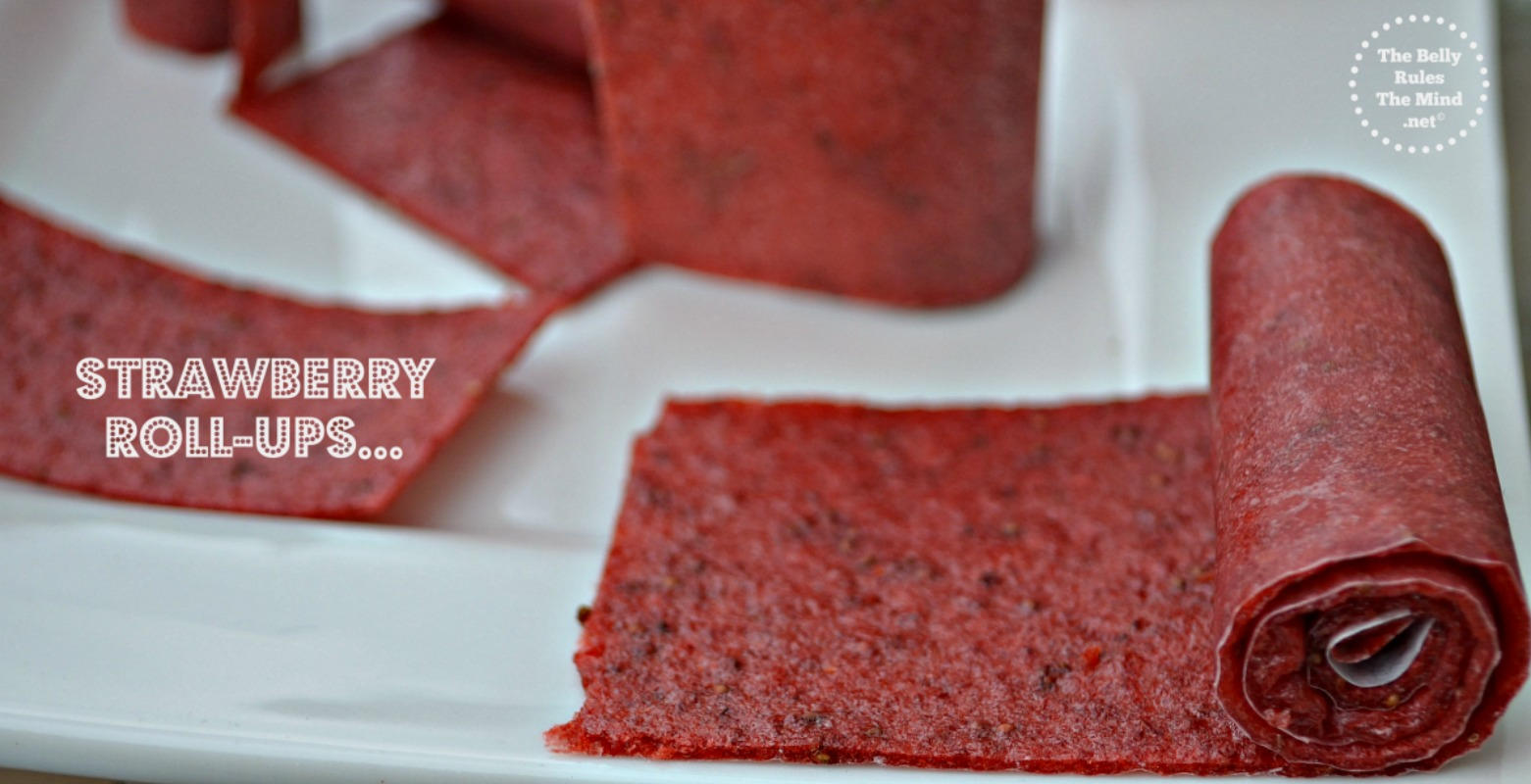 Strawberry leather or roll-ups