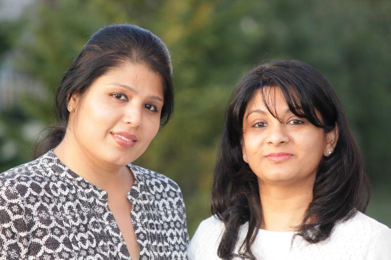 (L) Soniya Saluja & (R) Anvita Bhatnagar Mistry
