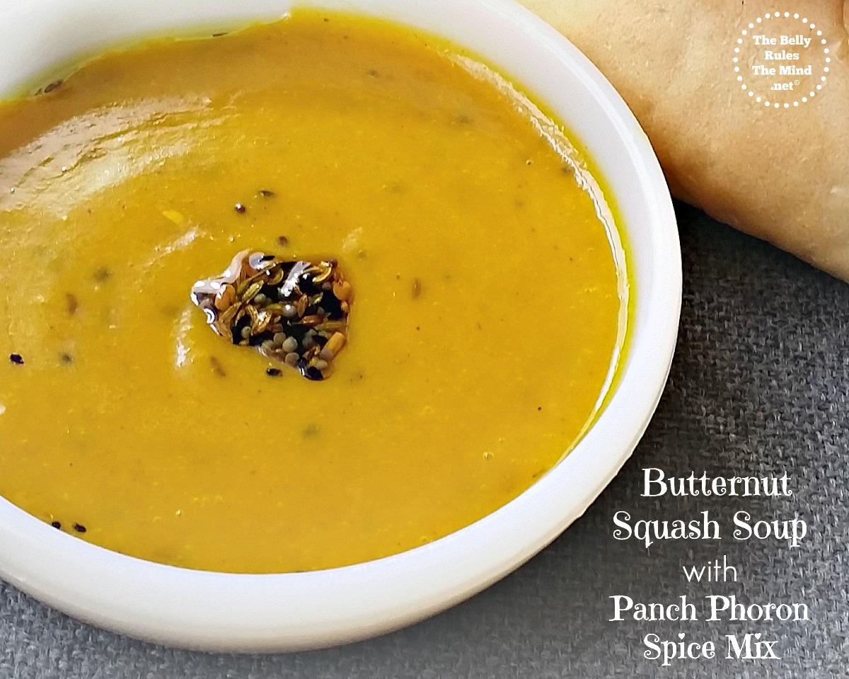 Paanch-Phoron Butternut Squash Soup – Fall Perfect!