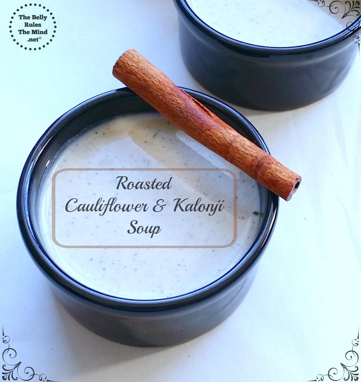Roasted cauliflower and kalonji soup