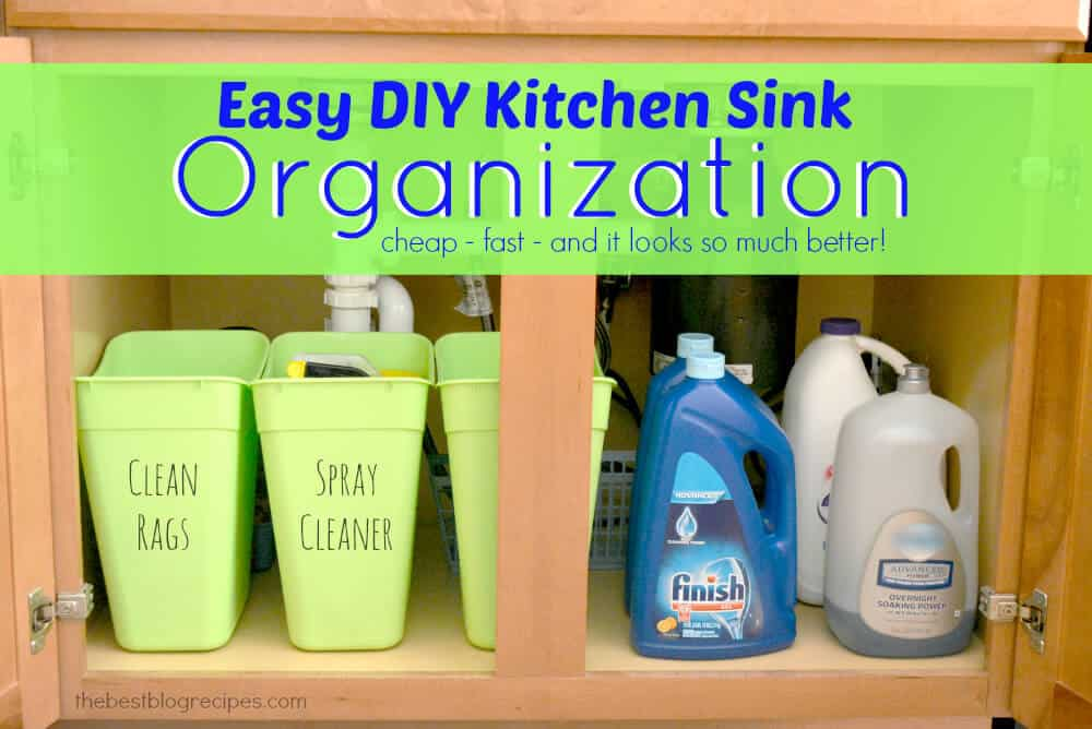 Organize under your sink.  As part of the 10 best organizing tips from Travel Parent Eat