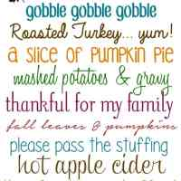 10 FREE Cute Fonts for Thanksgiving