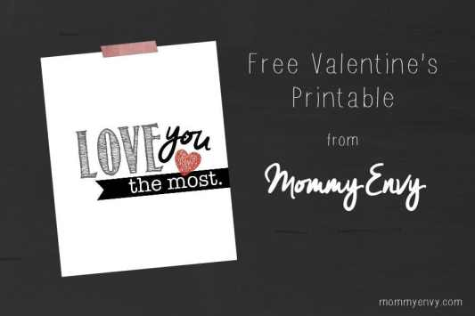 Love You the Most Printables featured on 25 Valentine's Day Crafts from The Best Blog Recipes