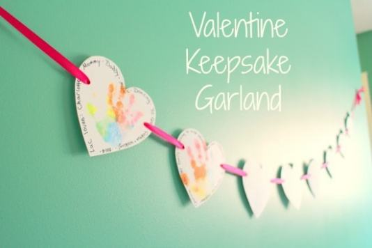 Valentine's Keepsake Garland featured on 25 Valentine's Day Crafts from The Best Blog Recipes