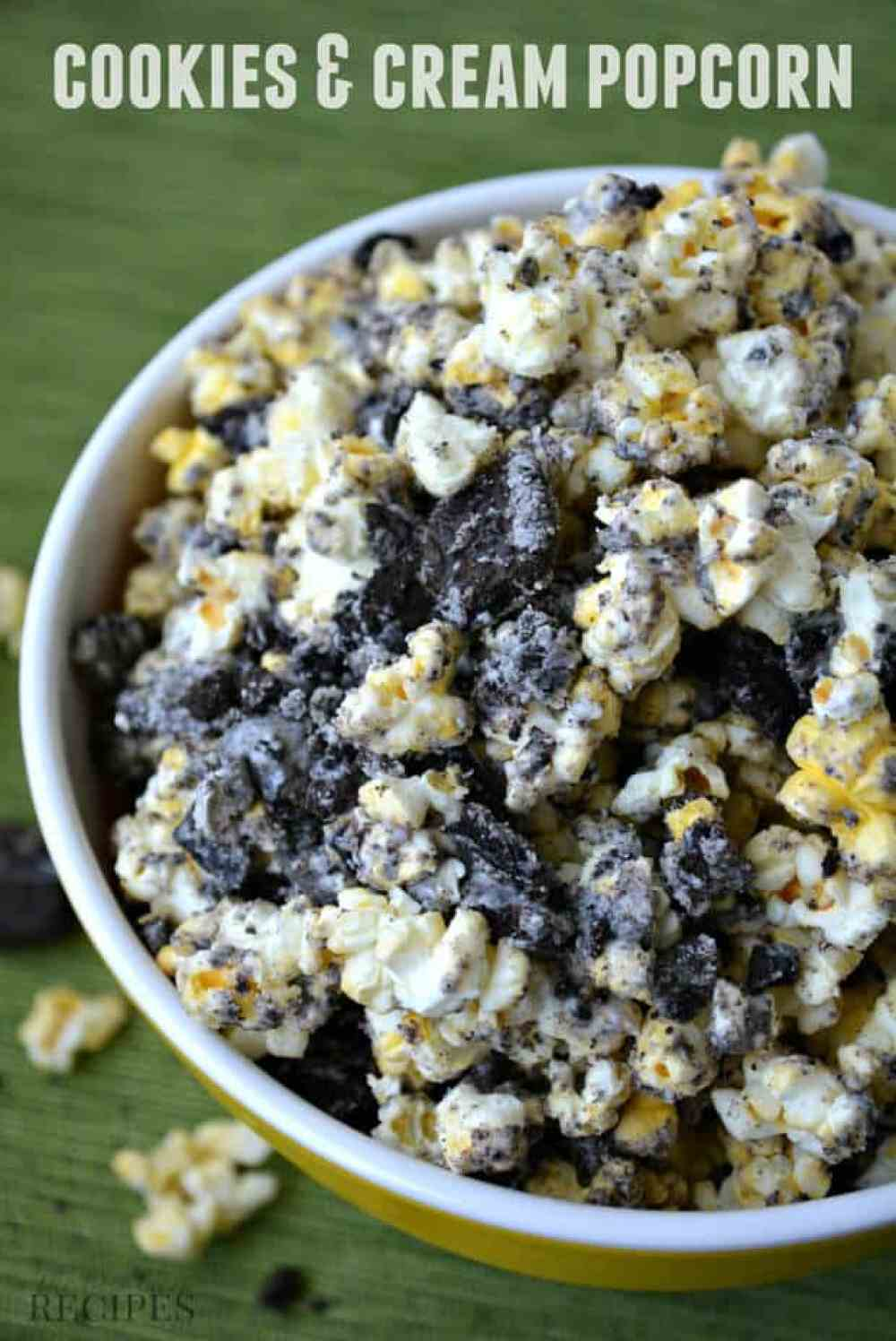 This Cookies and Cream Popcorn Recipe is easy to make and is the ...