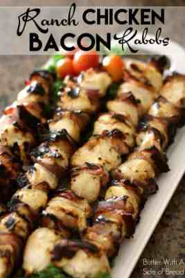 Bacon Ranch Chicken Kebabs