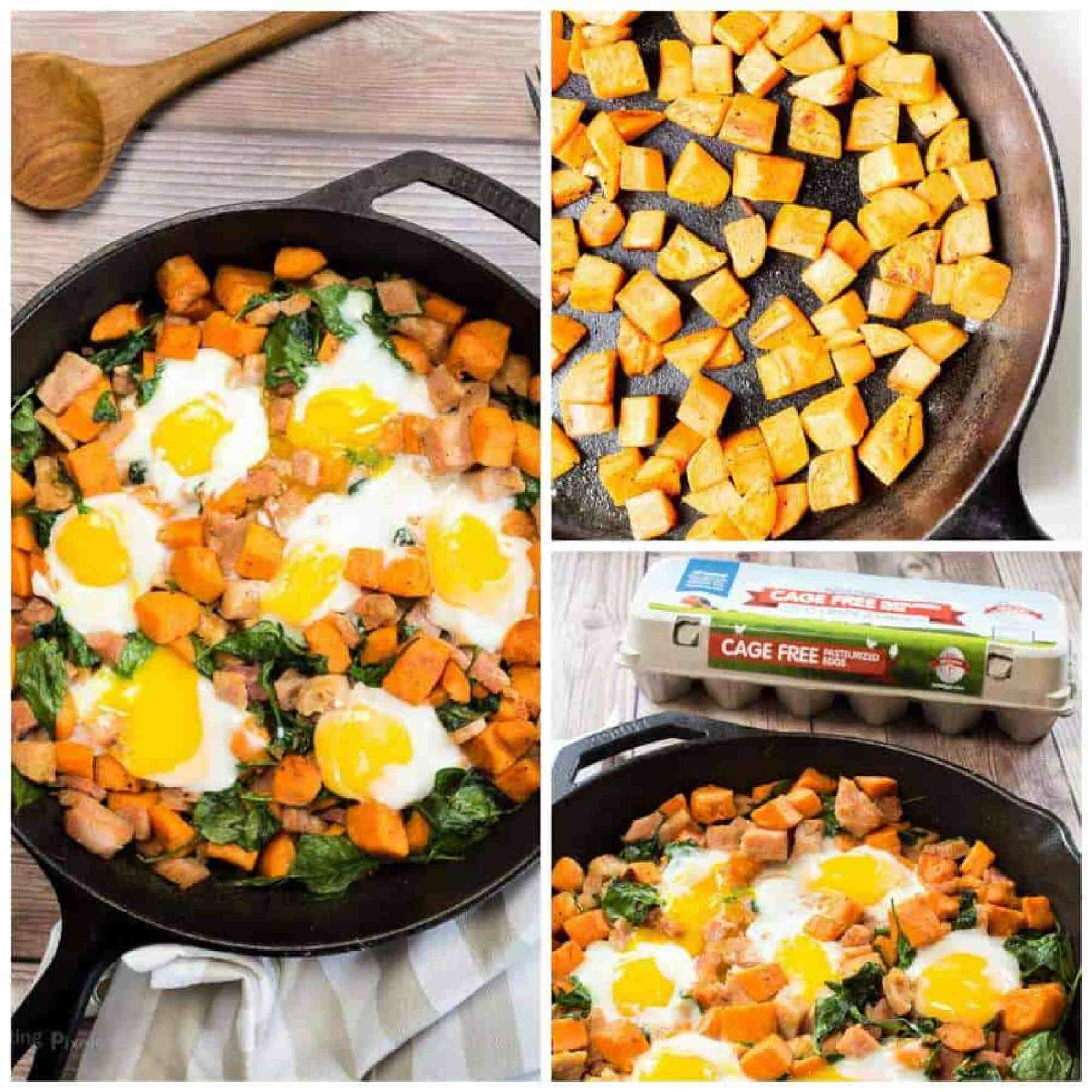 Spinach and Ham Sweet Potato Hash - The Best Blog Recipes