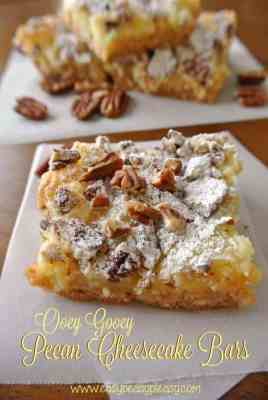 Ooey Gooey Pecan Cheesecake Bars