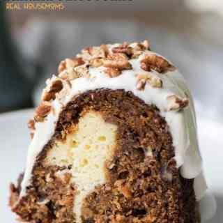 Cream Cheese Stuffed Banana Carrot Cake