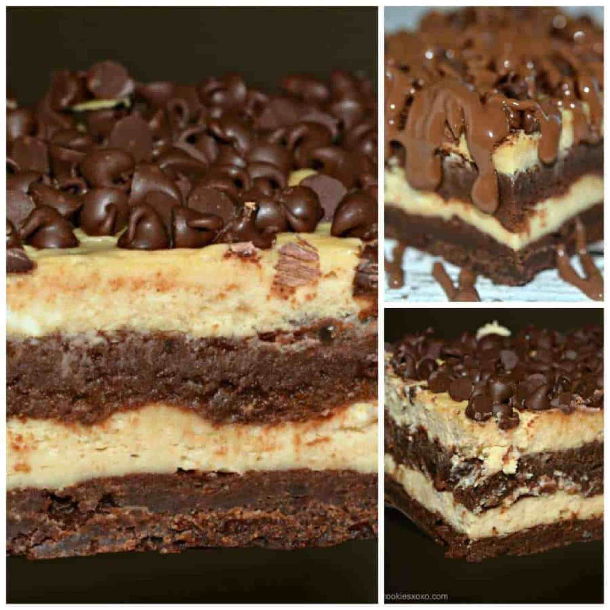 Layered Cheesecake Brownie Bars - The Best Blog Recipes