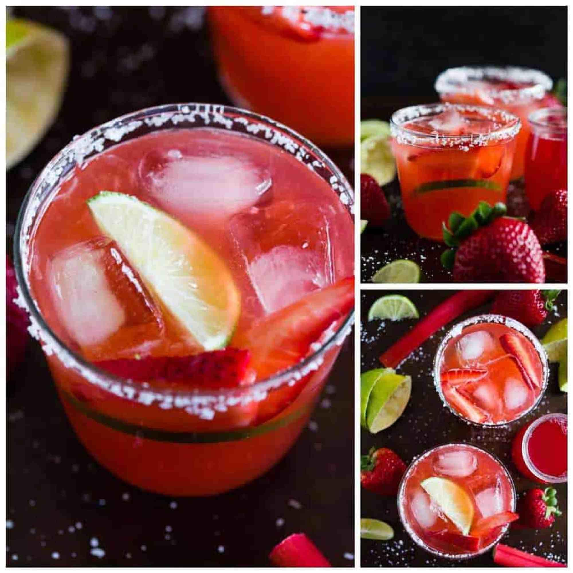 Rhubarb-Strawberry Margaritas Recipes — Dishmaps