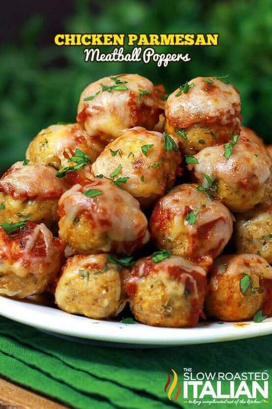 Chicken Parmesan Meatballs - The Best Blog Recipes