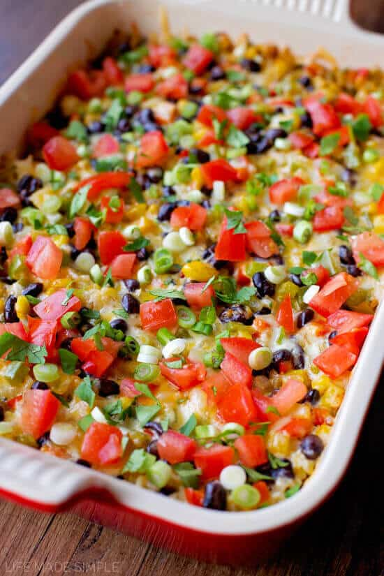 Southwest Burrito Bowl Bake - The Best Blog Recipes