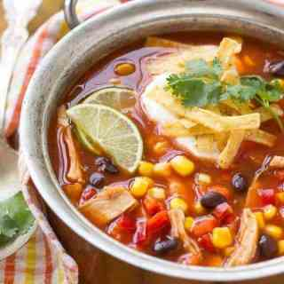 Quick and Easy Chicken Taco Soup