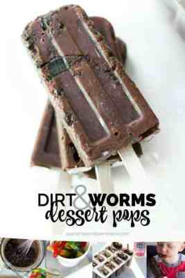 Dirt and Worms Popsicles