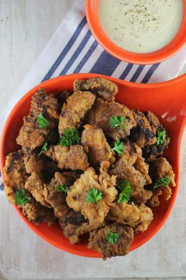 Chicken Fried Steak Bites with Country Gravy