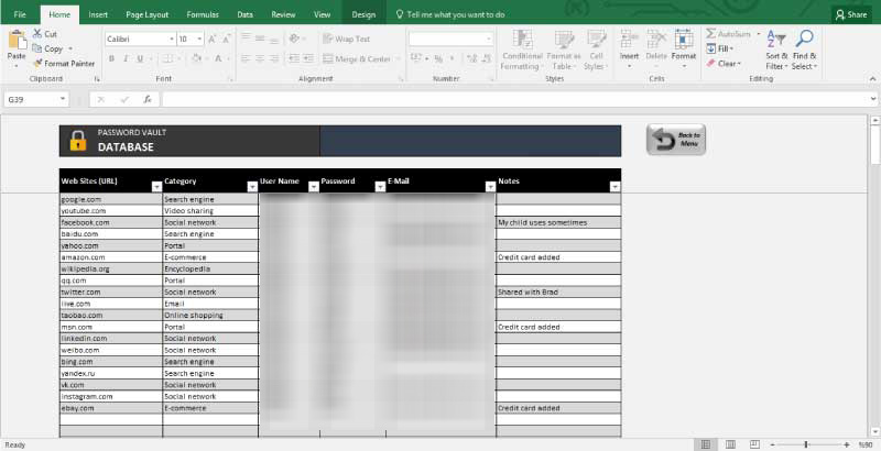 Best way to keep passwords organized How to store passwords safely? - password manager spreadsheet template