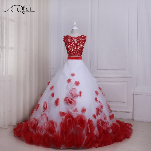 Medium Crop Of Red Wedding Dresses