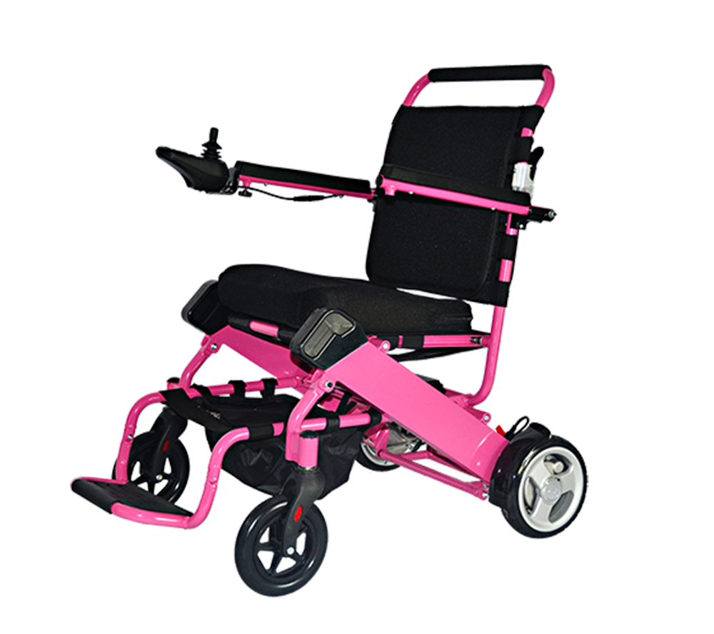 Pink electric wheelchair
