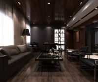 Light Wood Floors With Dark Furniture. Cozy Living Room ...