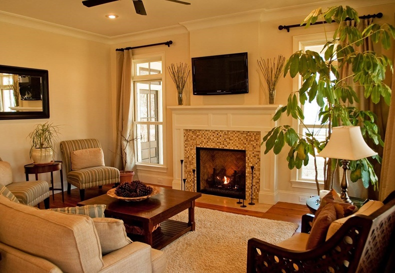 Small Living Room Ideas With Corner Fireplace