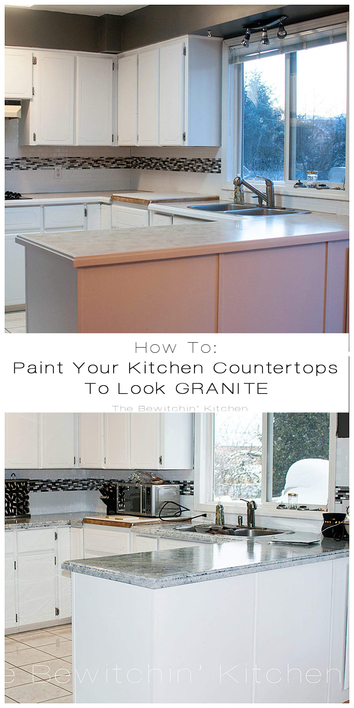 Paint For Countertops That Looks Like Granite Painting Kitchen Countertops With Giani Granite The