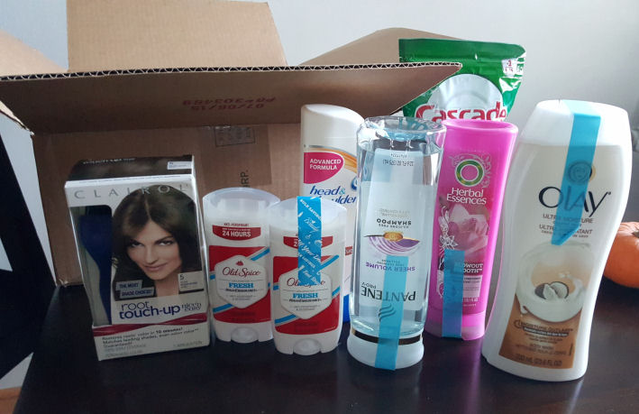 P&G beauty and grooming products from walmart