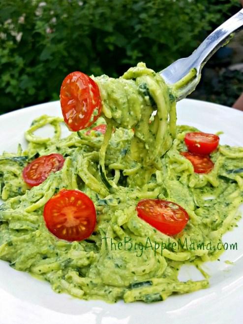 home made avocado pesto