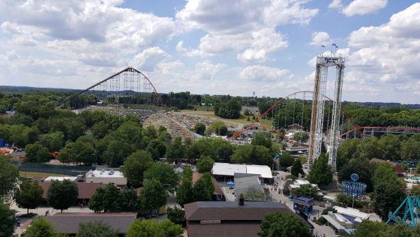 dorney park view from Ferris wheel