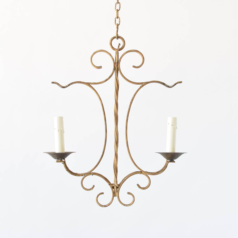 Small Simple Chandelier Small Chandelier W Ivory Patina