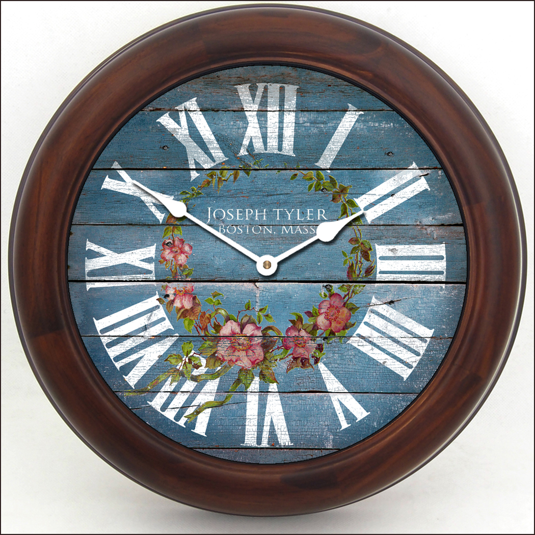 Blue Kitchen Clock Cottage Style Clock Blue Kitchen Wall Clocks The Big