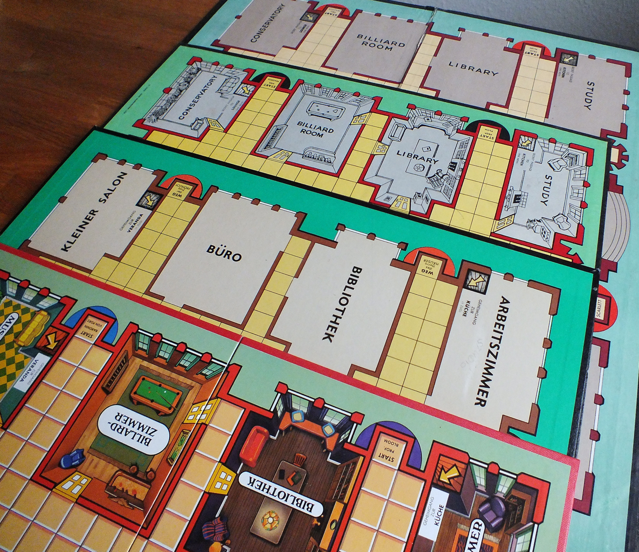 Billard Duisburg Clue Cluedo Board Comparison Note Supersize First Waddingtons