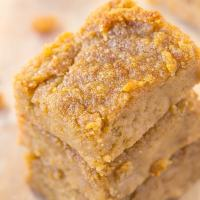 Healthy Four Ingredient Flourless Apple Pie Blondies