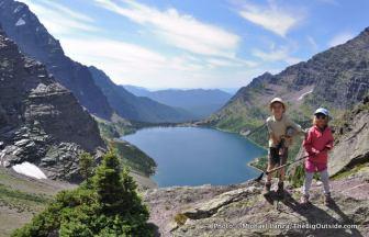 Nate and Alex above Lake Ellen Wilson.