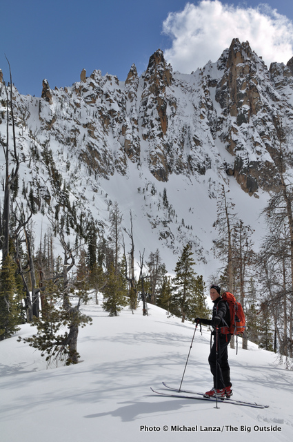 At the upper Bench Lake, below Mt. Heyburn, Sawtooth Mountains, Idaho.
