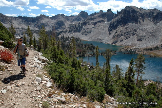 Above Twin Lakes, Sawtooth Mountains, Idaho